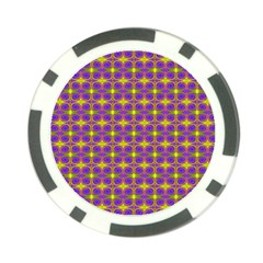 Purple Yellow Swirl Pattern Poker Chip Card Guard (10 Pack) by BrightVibesDesign