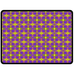 Purple Yellow Swirl Pattern Fleece Blanket (large)  by BrightVibesDesign