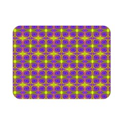 Purple Yellow Swirl Pattern Double Sided Flano Blanket (mini)  by BrightVibesDesign