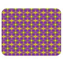 Purple Yellow Swirl Pattern Double Sided Flano Blanket (medium)  by BrightVibesDesign