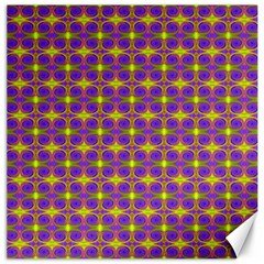 Purple Yellow Swirl Pattern Canvas 16  X 16   by BrightVibesDesign
