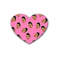 Crying Kim Kardashian Heart Coaster (4 Pack)  by Valentinaart