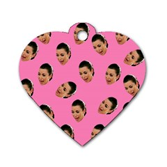 Crying Kim Kardashian Dog Tag Heart (two Sides) by Valentinaart