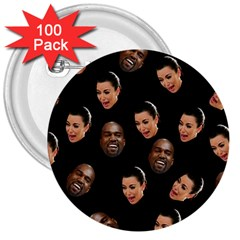 Crying Kim Kardashian 3  Buttons (100 Pack)  by Valentinaart