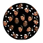 Crying Kim Kardashian Round Filigree Ornament (Two Sides) Back