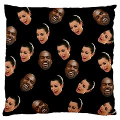 Crying Kim Kardashian Large Flano Cushion Case (one Side) by Valentinaart