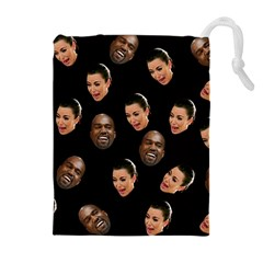 Crying Kim Kardashian Drawstring Pouches (extra Large) by Valentinaart