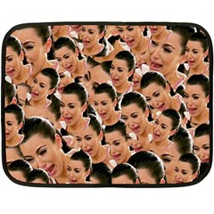 Crying Kim Kardashian Double Sided Fleece Blanket (mini)  by Valentinaart
