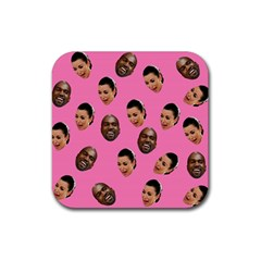 Crying Kim Kardashian Rubber Square Coaster (4 Pack)  by Valentinaart
