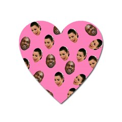 Crying Kim Kardashian Heart Magnet by Valentinaart