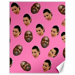 Crying Kim Kardashian Canvas 12  X 16   by Valentinaart