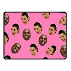 Crying Kim Kardashian Fleece Blanket (small) by Valentinaart
