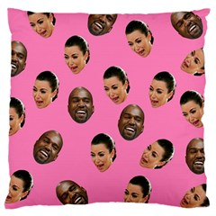 Crying Kim Kardashian Large Cushion Case (two Sides) by Valentinaart