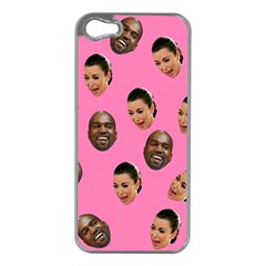 Crying Kim Kardashian Apple Iphone 5 Case (silver) by Valentinaart