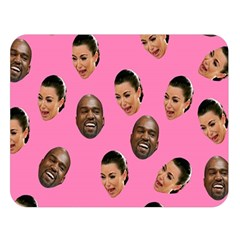 Crying Kim Kardashian Double Sided Flano Blanket (large)  by Valentinaart