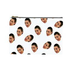 Crying Kim Kardashian Cosmetic Bag (large)  by Valentinaart