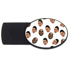 Crying Kim Kardashian Usb Flash Drive Oval (4 Gb) by Valentinaart