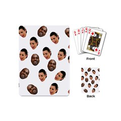Crying Kim Kardashian Playing Cards (mini)  by Valentinaart