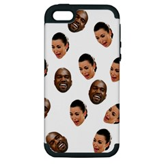Crying Kim Kardashian Apple Iphone 5 Hardshell Case (pc+silicone) by Valentinaart
