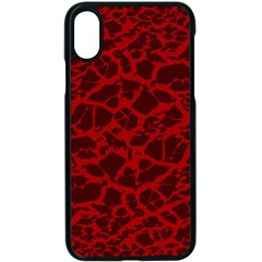 Red Earth Texture Apple Iphone X Seamless Case (black)