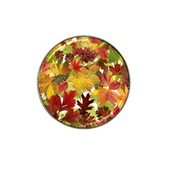Autumn Fall Leaves Hat Clip Ball Marker (4 Pack)