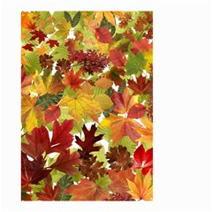 Autumn Fall Leaves Small Garden Flag (two Sides) by LoolyElzayat