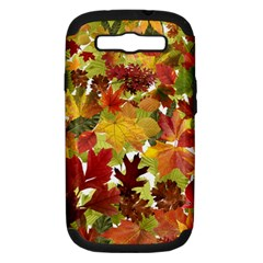 Autumn Fall Leaves Samsung Galaxy S Iii Hardshell Case (pc+silicone) by LoolyElzayat