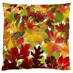 Autumn Fall Leaves Standard Flano Cushion Case (two Sides)