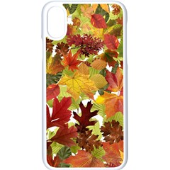 Autumn Fall Leaves Apple Iphone X Seamless Case (white) by LoolyElzayat
