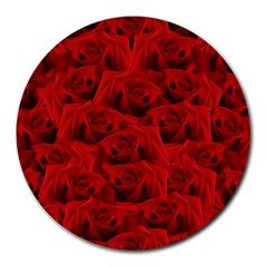 Romantic Red Rose Round Mousepads by LoolyElzayat