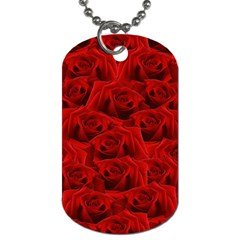 Romantic Red Rose Dog Tag (one Side) by LoolyElzayat