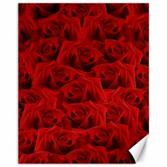 Romantic Red Rose Canvas 11  X 14