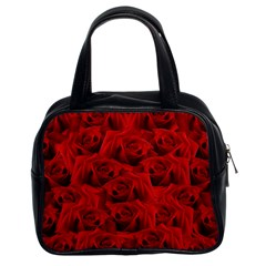 Romantic Red Rose Classic Handbags (2 Sides)