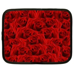 Romantic Red Rose Netbook Case (xl)  by LoolyElzayat