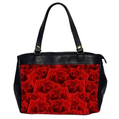 Romantic Red Rose Office Handbags (2 Sides)  by LoolyElzayat