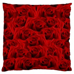 Romantic Red Rose Large Cushion Case (one Side) by LoolyElzayat