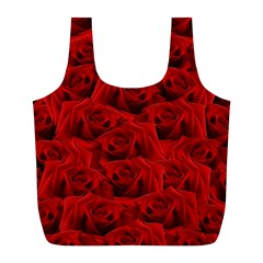 Romantic Red Rose Full Print Recycle Bags (l)  by LoolyElzayat