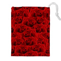 Romantic Red Rose Drawstring Pouches (xxl)