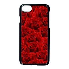 Romantic Red Rose Apple Iphone 8 Seamless Case (black) by LoolyElzayat