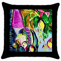 Lilac And Lillies 2 Throw Pillow Case (black) by bestdesignintheworld