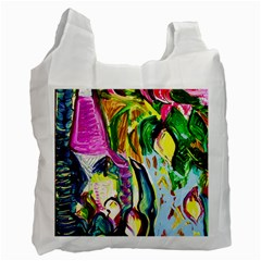 Lilac And Lillies 2 Recycle Bag (one Side) by bestdesignintheworld