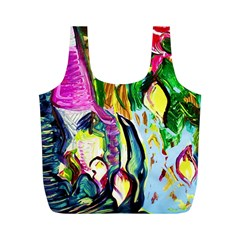 Lilac And Lillies 2 Full Print Recycle Bags (m)  by bestdesignintheworld
