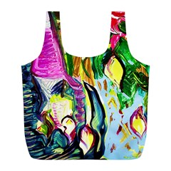 Lilac And Lillies 2 Full Print Recycle Bags (l)  by bestdesignintheworld