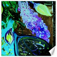 Lilac And Lillies 1 Canvas 20  X 20   by bestdesignintheworld