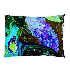 Lilac And Lillies 1 Pillow Case by bestdesignintheworld