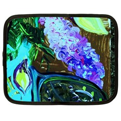 Lilac And Lillies 1 Netbook Case (xxl)  by bestdesignintheworld