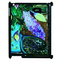 Lilac And Lillies 1 Apple Ipad 2 Case (black)