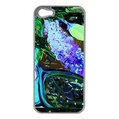 Lilac And Lillies 1 Apple Iphone 5 Case (silver) by bestdesignintheworld