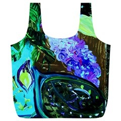 Lilac And Lillies 1 Full Print Recycle Bags (l)  by bestdesignintheworld