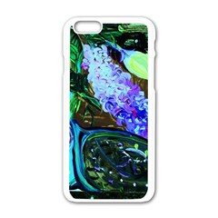 Lilac And Lillies 1 Apple Iphone 6/6s White Enamel Case by bestdesignintheworld